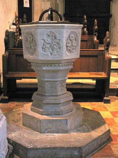 St Giles, Codicote, Herts - Font