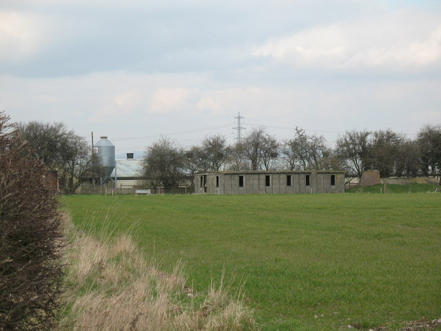 Old huts at Tholthorpe Airfield
