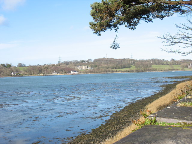 Afon Menai immediately west of Pont Britannia Bridge