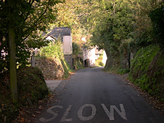 Looking down the steep hill at Cocks