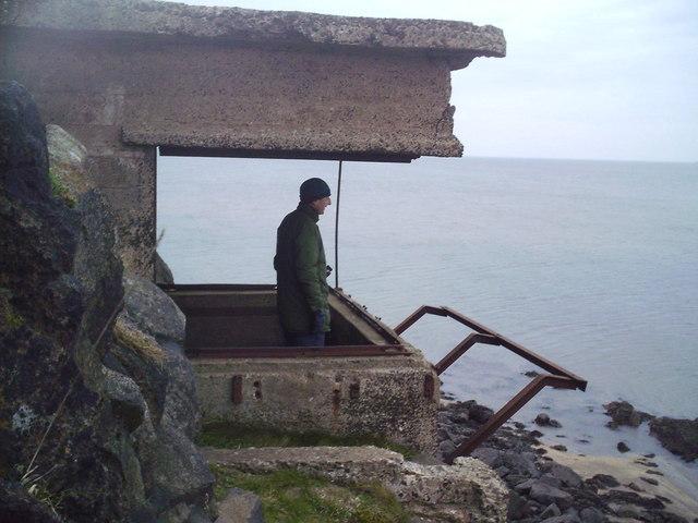WW2 coastal defence site, Cramond Island.