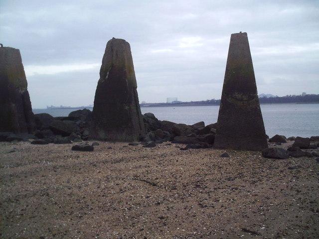 Cramond Island, Marine De(fence)s.