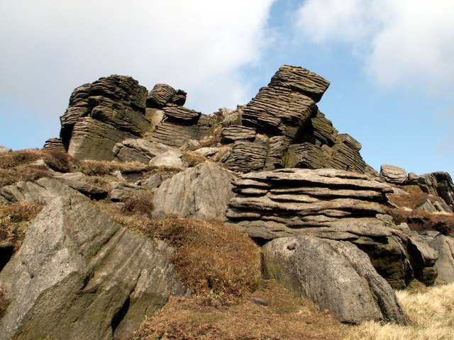 The right hand Castle at Crowden