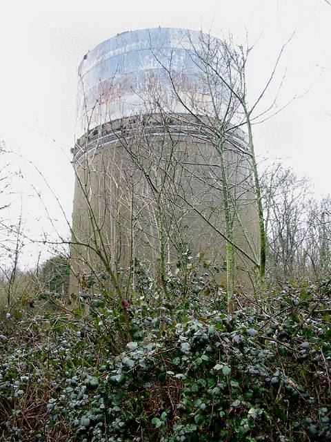 Water tower in Captain's Wood