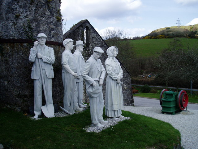 China Clay Sculpture Wheal Martyn  Museum,St Austell