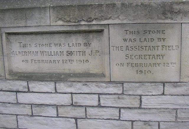 Foundation stones, Bethel Street, Brighouse