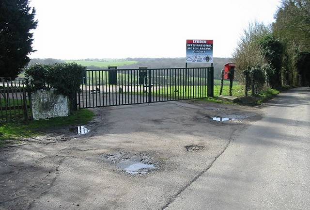 Entrance to Lydden Circuit race track
