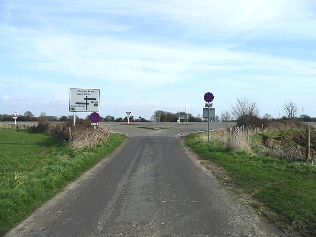Junction of minor road with A2