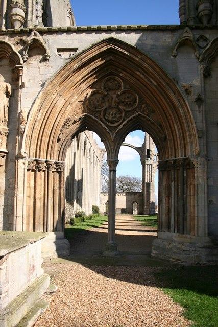Crowland Abbey - west door