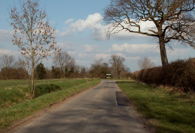 One end of Cratfield Lane