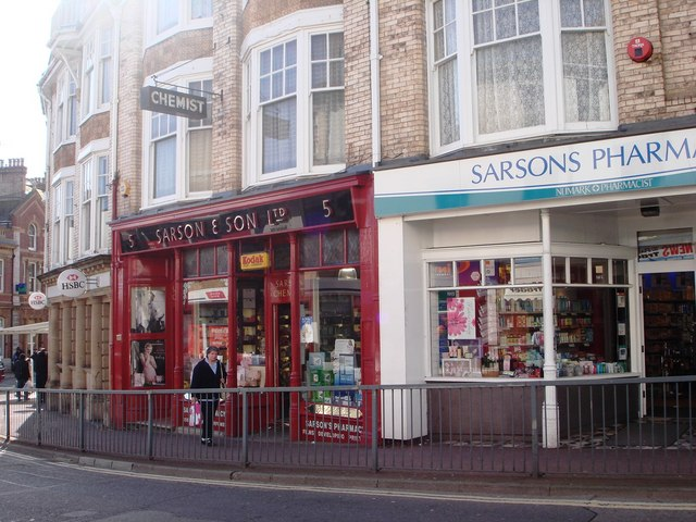 Chemists with original traditional shop front