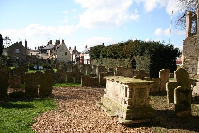 Crowland Abbey - churchyard