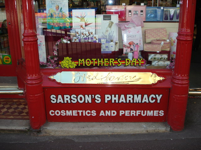 Chemist's shop window, Paignton
