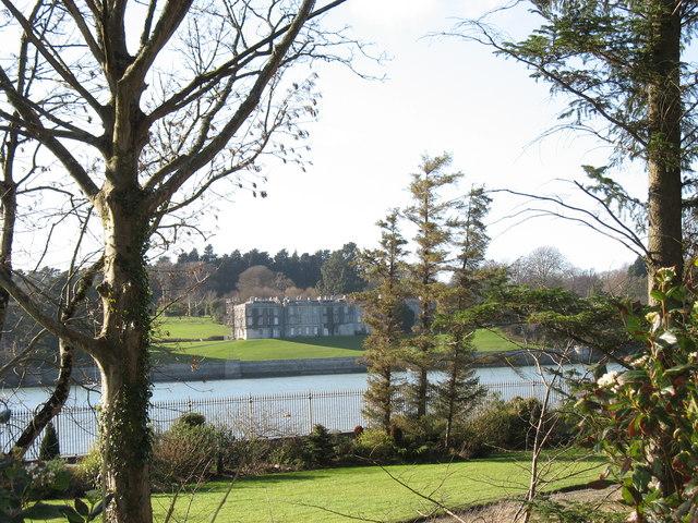 Plas Newydd from Y Faenol boathouse garden