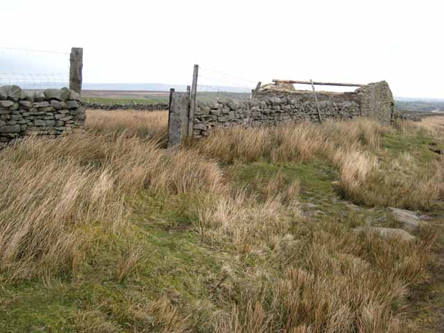Ruined barn on the Sleightholme road