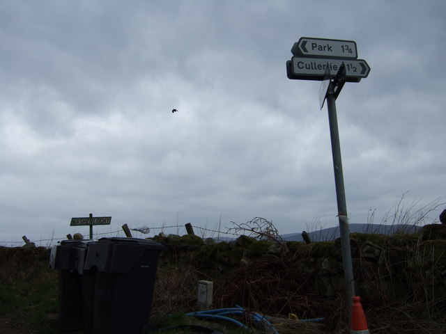 Signpost near Broomfield