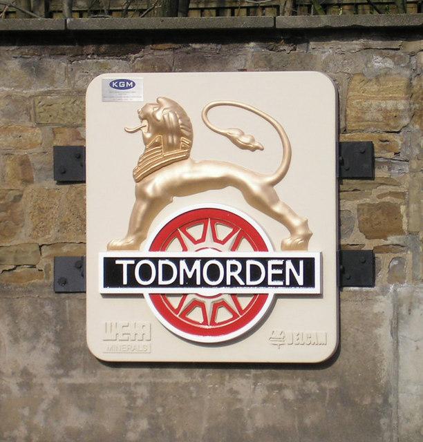 Todmorden Station sign