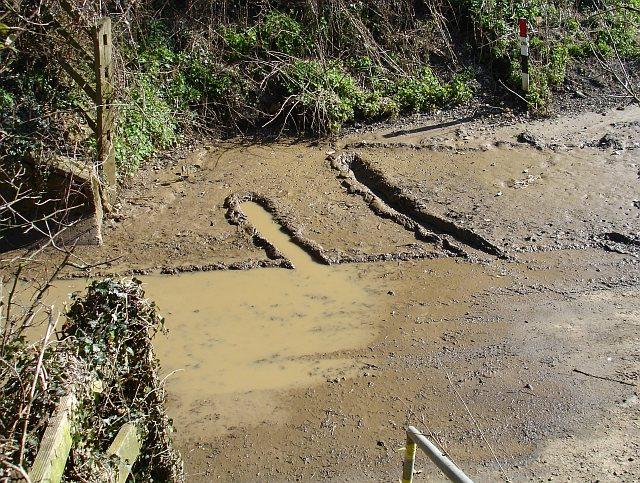 Muddy underpass