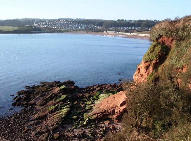 Red Sandstone Cliff, south of Saltern Cove