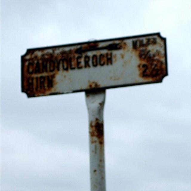 Rustic signpost!
