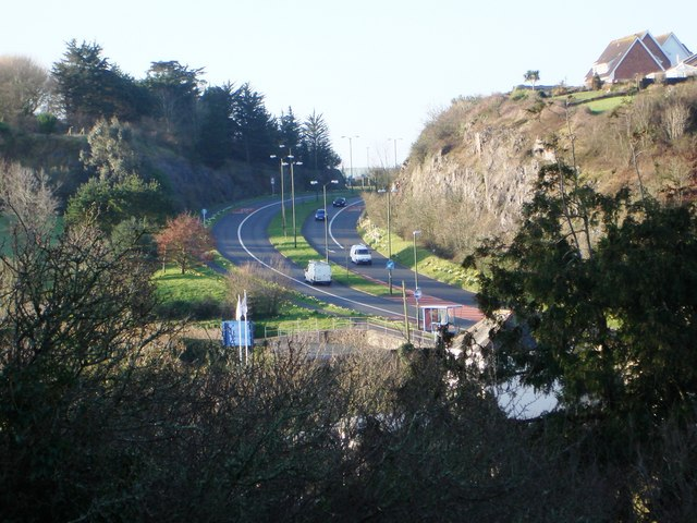 Dual Carriageway on Dartmouth Road, Three Beaches, Paignton