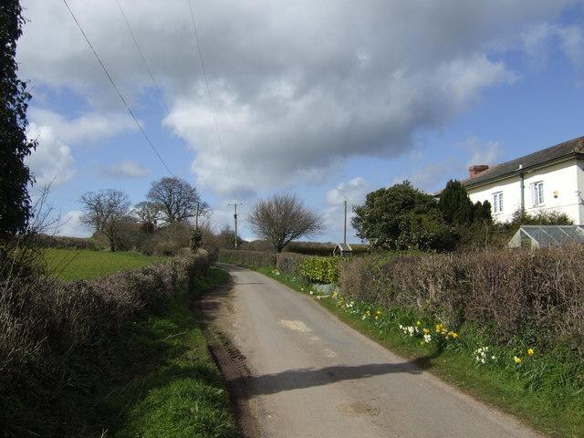 Lane to West Newton
