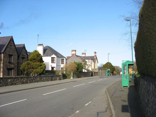 Bus shelters near the entrance to the Felinheli Marina
