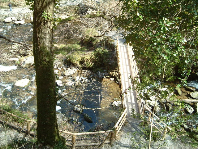 Crossing Watersmeet. Devon