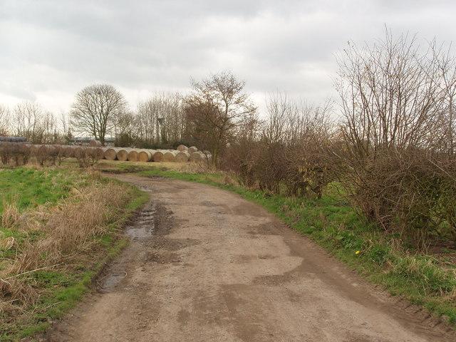 Strawbales Obstructing Footpath