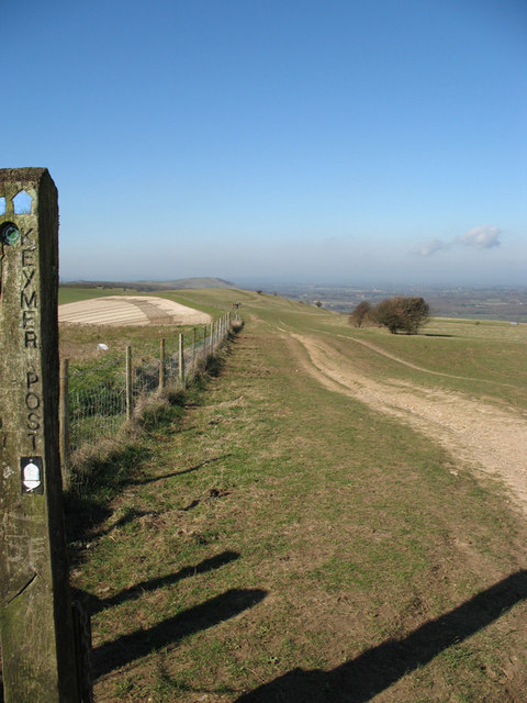 South Downs from way post.