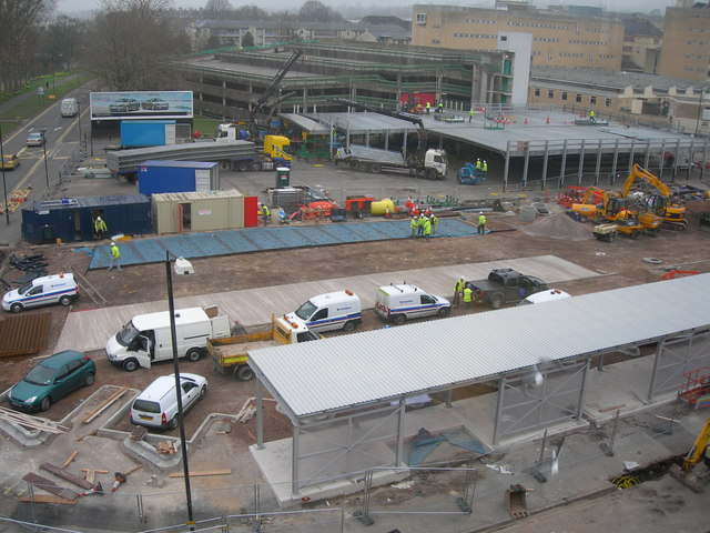 Building the new Bus Station. Bath