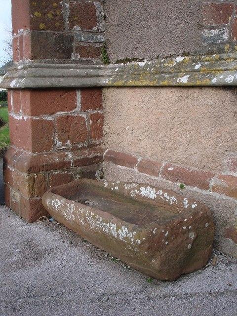 Stone trough, outside main door, St Mary the Virgin, Brixham