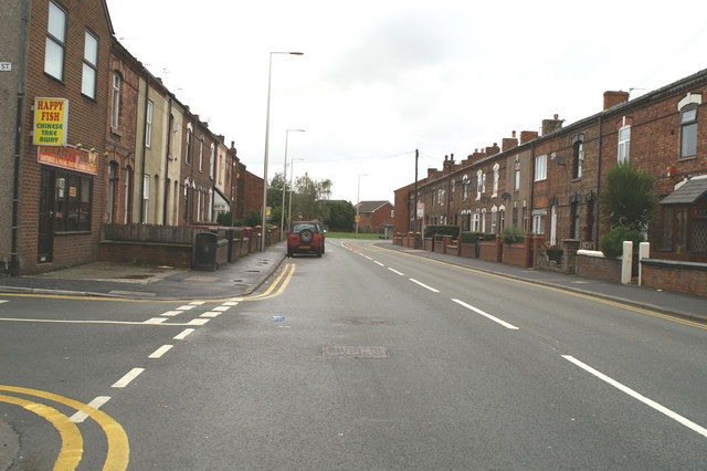 Warrington Road, Spring View, junction with St. Clements Street