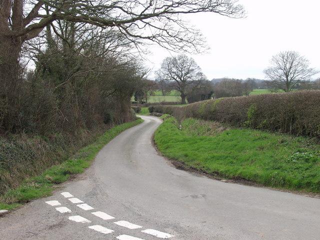 Rural lane at Wigginton