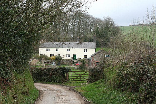 Molland: cottages near Great Champson