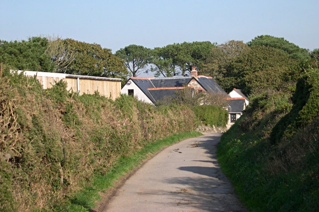 Farmhouse and Lane at Carnkief