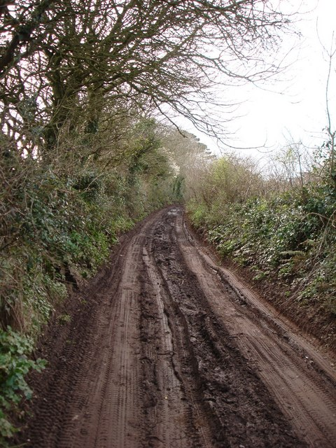 Muddy Lane, Southdown Hill,  Higher Brixham