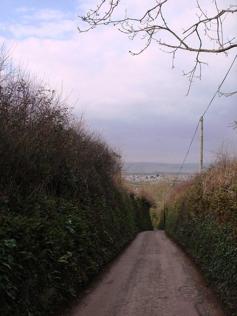 Lane down Southdown Hill, Higher Brixham