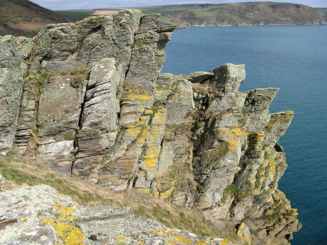 Pencarrow Head cliffside rocks
