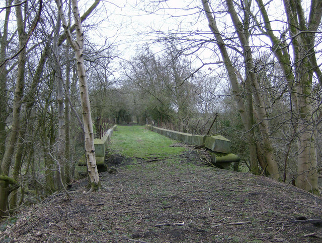 Old railway bridge between Harome Siding and Nunnington Station