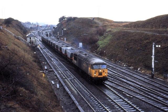 Train at Goosehill Junction 1980