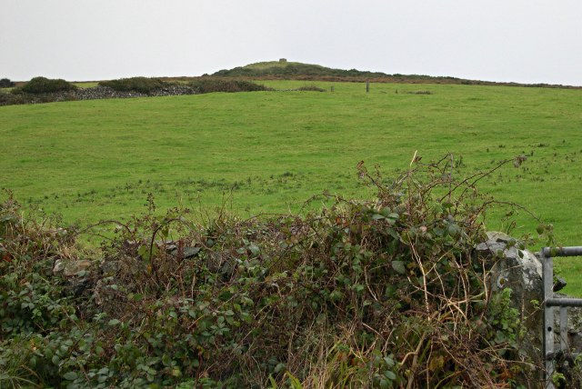 Looking uphill to St Agnes Beacon