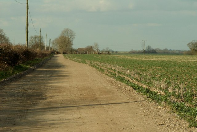 Road to Lower Hall Farm