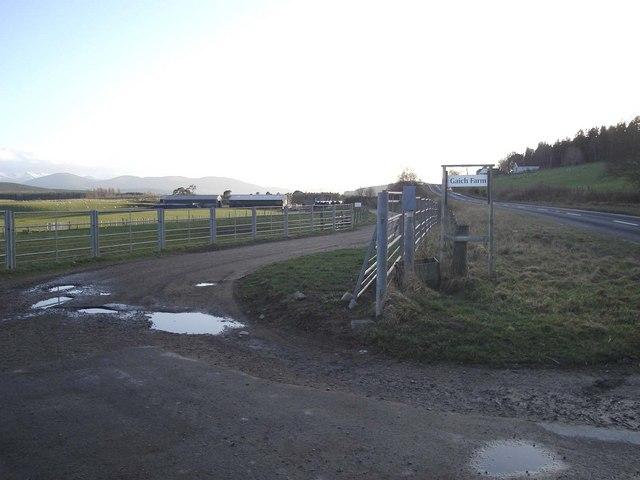 The track to Gaich Farm
