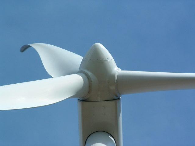Close Up Of Wind Turbine