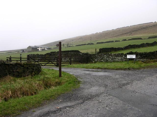 Path to Crowthorn Farm