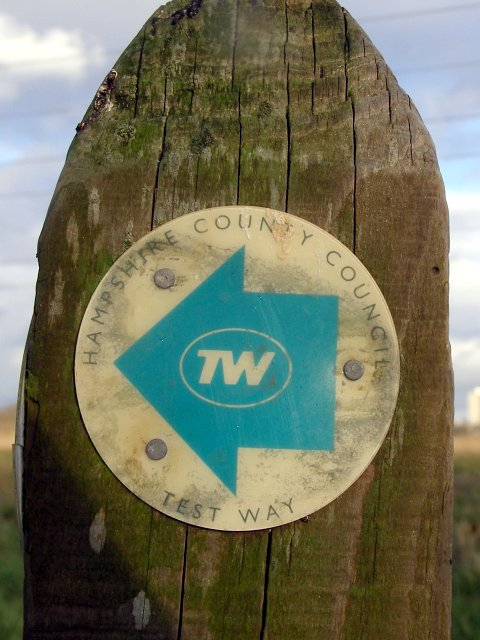 Test Way footpath waymarker