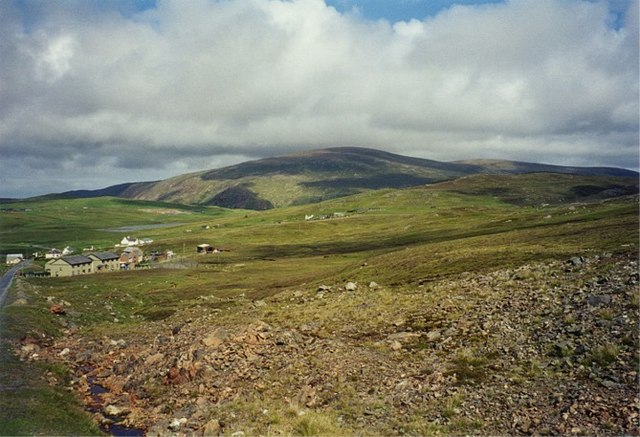 Scree on hillside above Urafirth