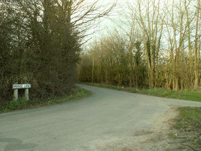 Manse Lane, just southwest of Cratfield