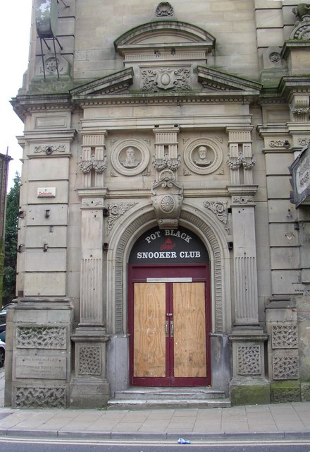 Doorway to the Industrial Hall, Halifax Road, Dewsbury